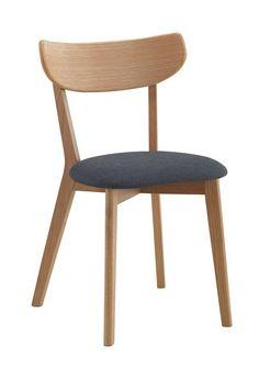 Sanna Spisebordsstol i eg, Gråt stofsæde - Gratis fragt Dining Chairs, Dining Room, Easy Woodworking Projects, Furniture, Home Decor, Interiors, Painted Wood Chairs, Home, Decoration Home