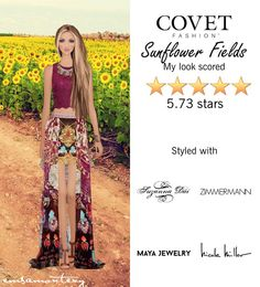 Sunflower Fields  @covetfashion #covet #covetfashion #covetfashionapp #fashion #womensfashion