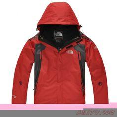 3fced972c6 Blouson hiver The North Face Sale Gore Tex Hommes Rouge Veste Sortie  TNF4158 North Face Clearance