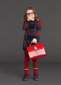 Tartan Styles For Kids Clothes Dolce & Gabbana Junior Tartan Feature CharmPosh Dolce & Gabbana, Dolce And Gabbana Kids, Little Fashionista, Kids Fashion Blog, Little Girl Fashion, School Fashion, Kind Mode, Moncler, Kids Wear