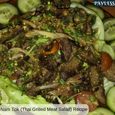 Nam Tok ထိုင္းအသားကင္သုပ္! Check out the recipe!