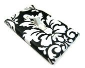 Black and White Damask Light Switch Cover Modern Cottage Shabby Chic Home Decor 639