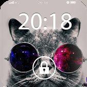 Fancy Screen Lock Cat