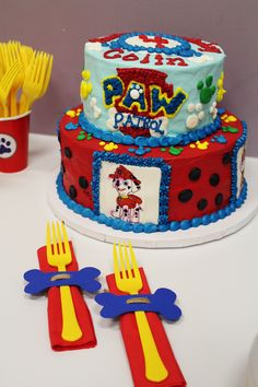 Paw patrol party ideas; paw patrol cake