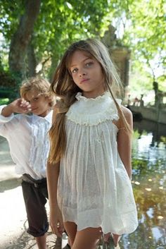 Thylane Blondeau and her brother Ayrton.  #beautiful #girl #model