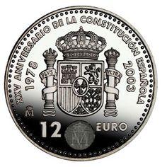Colección completa Monedas España 12 euros 2002 al 2010, Tienda Numismatica y Filatelia Lopez, compra venta de monedas oro y plata, sellos españa, accesorios Leuchtturm
