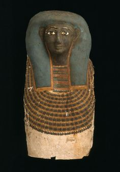 Wood, cartonnage, milky quartz, onyx, and bronze head end from an anthropoid coffin. Middle Kingdom. 12th dynasty. 1991–1783 B.C. or later   Museum of Fine Arts, Boston