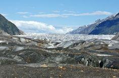 The bright white and blue Baird Glacier in Alaska   Traveldudes.org
