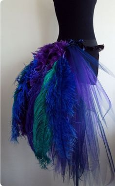 French Navy Blue Purple Peacock Burlesque Tutu skirt size 4 U. Possible Halloween costume Costume Halloween, Cool Costumes, Dance Costumes, Halloween Party, Halloween 2019, Peacock Costume, Bird Costume, Burlesque, Purple Peacock
