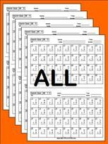 - free printable flashcards, worksheets and quickquiz pack that include pre-test and post test. Math Worksheets, Math Resources, Math Quizzes, Multiplication Test, Multiplication Strategies, Math Fractions, Math College, Math Intervention, Homeschool Math