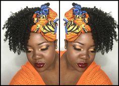 #orange #ethnic #eyeshadow Black Woman. YouTube: TheMindCatcher