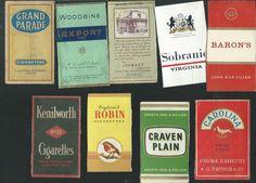 9 Scarce Vintage Cigarette Packet Fronts | eBay