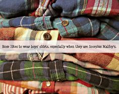 Rose loved to wear boy's shirts, especially Scorpius'.