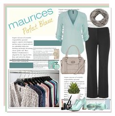 """The Perfect Blouse with maurices: Contest Entry"" by polybaby ❤ liked on Polyvore featuring maurices, Bare Escentuals, Isaac Mizrahi, Pomax and Lancôme"