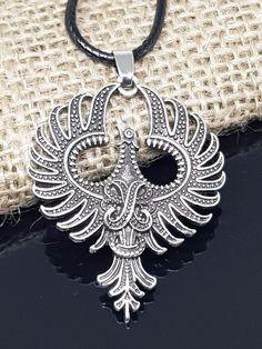 bird necklace transformation symbol in oxidised bronze hand carved firebird Phoenix pendant tribal jewelry. rebirth necklace