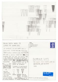 Dear-Data (www.dear-data.com)  Week 03 - A week of Thank yous postcard by Stefanie