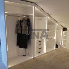 Attic Bedroom Storage, Bedroom Loft, Loft Room, New Room, Kitchen Design, New Homes, Dressing, Room Decor, Interior