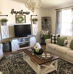 45 Creative Living Room Design and Decor Ideas for Small Apartment living room curtains Room Wall Decor, Farm House Living Room, Farmhouse Decor Living Room, Living Room Diy, Living Room Designs, Living Room Tv Stand, Apartment Living Room, Living Decor, Room Design
