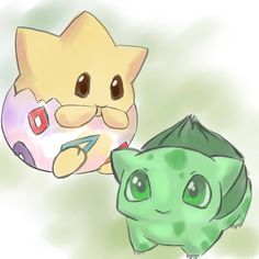 Togepi n Bulbasaur by xXhalicyonXx