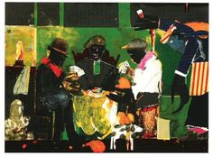 Card Players (1982) by Romare Bearden