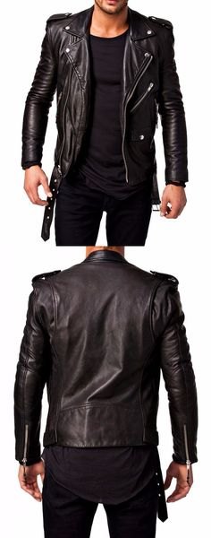 Amazing offer for Fashionable Boys. New Slim fit Genuine Lambskin Black Biker Jacket for Boys. Made from Real Leather. Our Professional Designers Prepared This Outfits with Fine Quality Stitching to Bring Charm and Attraction in your Outlook. Available at Our Online Store.  #fashion #bikers #bikerboys #boysfashion #menfashion #shopping #movies #lovers #fans #boyscollection #hot #sexy #stylish #costume #menclothing #menJackets #superhotfashion #parties #casual #menswear #love