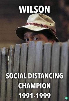 Wilson is the Social Distancing Champion, funny Covid memes, laughter is good medicine Crazy Quotes, Funny Quotes, Funny Memes, Jokes, Funniest Quotes Ever, It's Funny, Memes Humor, Funny Stuff, Movies