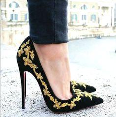 Christian Louboutin dress high heels