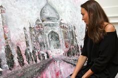 Me talking about my artwork Taj Mahal