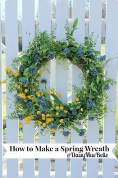 Make a fresh and beautiful spring wreath in minutes!