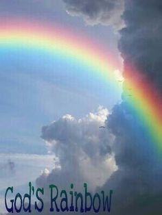 "Genesis 9:12-16 NIV  And God said, ""This is the sign of the covenant I am making between me and you and every living creature with you, a covenant for all generations to come: I have set my rainbow in the clouds, and it will be the sign of the covenant between me and the earth. Whenever I bring clouds over the earth and the rainbow appears in the clouds, I will remember my covenant between me and you and all living creatures of every kind. Never again will the waters become a flood to…"