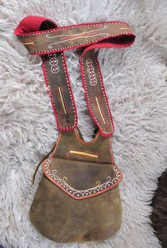 Hunting pouch - Woodland - Quillwork Made by Romana Ziemann
