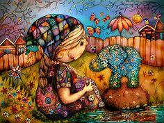Há um elefante no meu jardim por Karin Taylor