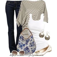 Floral and Stripes by wishlist123 on Polyvore