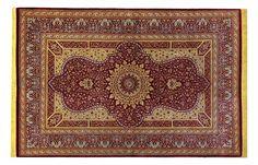 www.tappeti-irana.com   QUM SETA INTERAMENTE ANNODATO CON LA SETA PREGIATA.   MISURA : 150 X 99