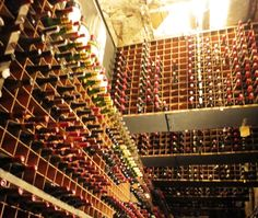 Wine Cellar at Bern's Steakhouse in Tampa, FL has over half a million bottles of wine!  It is an amazing wine cellar! Made me dizzy looking at them all! ;-)