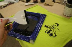 DIY screen printing for t-shirts