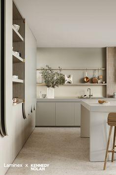 Kitchen Room Design, Modern Kitchen Design, Home Decor Kitchen, Interior Design Kitchen, Home Kitchens, Kitchen Ideas, Neutral Kitchen Interior, Kitchen Design Minimalist, Minimalist Kitchen Inspiration