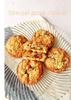 Apple Cookies, Apple Desserts, Mini Cakes, Kimchi, Macarons, Bakery, Deserts, Muffin, Bread