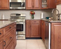 Bon This New Kitchenu0027s Color Is Classic Cherry With Black Glaze In Our  Maintenance Free Material.