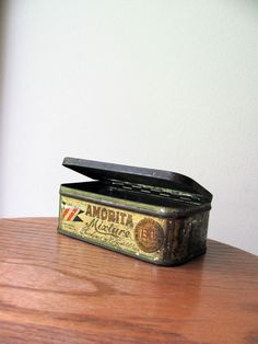 Tobacco Tin Box Pipe Tobacco Canister Advertisement