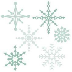 Daily Freebie 10-21-14: Miss Kate Cuttables--Snowflake Set SVG scrapbook title winter svg cut file winter cut file for scrapbooking cute cricut cut files