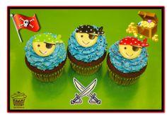 Blue pirate cupcakes! Visit Omg! Cupcakes at www.facebook.com/OmgCupcakesGP
