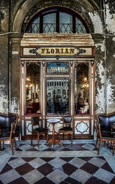 The Caffè Florian in Piazza San Marco #Venice #Italy is the oldest cafe in Europe. Hemingway and Monet were regulars here in their day.