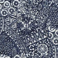 Timeless Treasures Tonga Seabreeze Batik Indigo Balinese Patchwork