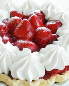 Skip the boxed pie filling and celebrate all-natural flavor with this homemade, fresh strawberry pie recipe! The results are gorgeous, light and tasty!