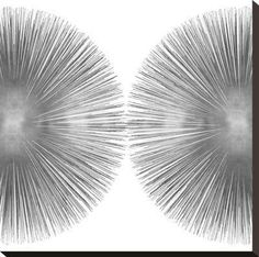 Silver Sunburst II Stretched Canvas Print by Abby Young at Art.com