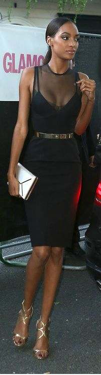 Jourdan Dunn in Victoria Beckham dress
