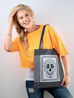 Stitch a skull bag