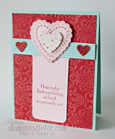 Hearts a Flutter Bookmark Card