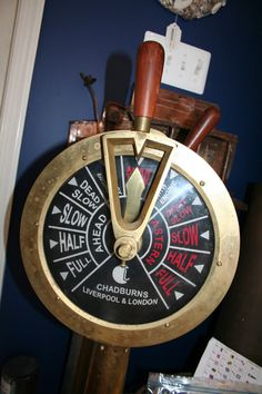 Full steam ahead! Engine Order Telegraph - Chadburns Liverpool and London http://wp.me/p3FTDn-NP at #Annapolis #Maritime #Antiques